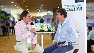 Senador de la República Angel Custodio Cabrera habla con el Presidente de Acoset