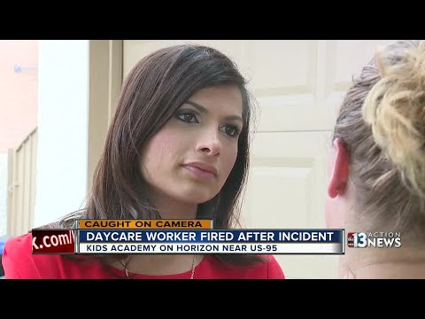 Day care worker fired after incident caught on camera