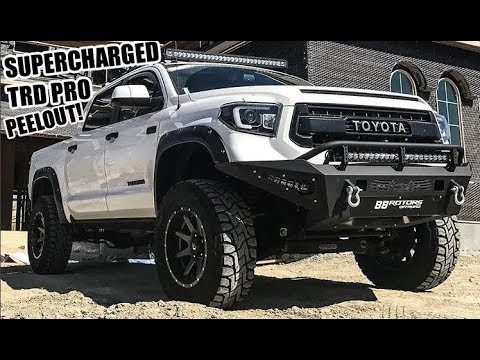 Toyota Tundra Trd Supercharged >> Toyota Tundra Trd Pro 504hp Supercharged Walk Around And Peel Out