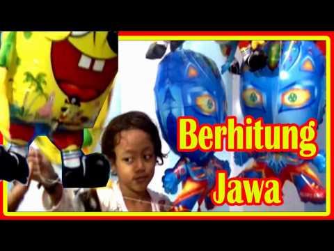 Balon Mainan Anak - Qyla Belajar Berhitung Jawa - Balon Karakter Ultraman, Spongebob, Nemo, ClowFish