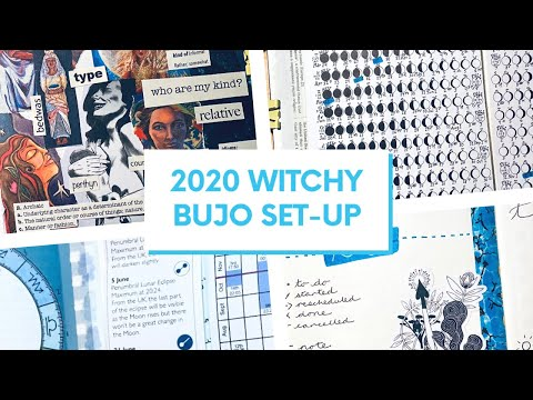 2020 Bullet Journal Set-Up Including Astrology And Moon Phases #witchybujo
