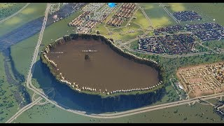 Cities : Skylines - Building Large Sewage Lake & Fill Sewage in it