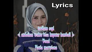 lirik lagu terdiam sepi vocal nazia marwiana by Abah anom official