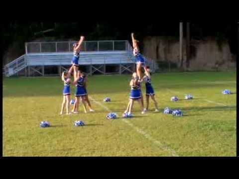 2013 JR Varsity Cheerleaders at Meet the Eagles night, Porters Chapel Academy