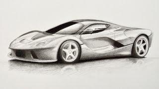 Cómo dibujar un carro: Ferrari - Arte Divierte. thumbnail