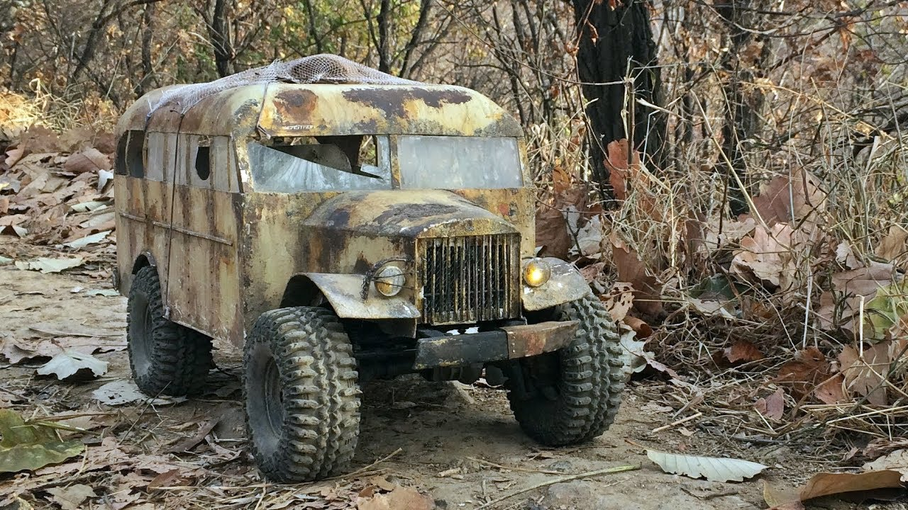 Icort Traxxas Trx4 With Old School Bus Body 4x4 Off Road Trail