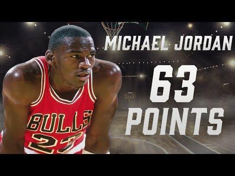 Michael Jordan's record-setting 63-point playoff performance | NBA Highlights