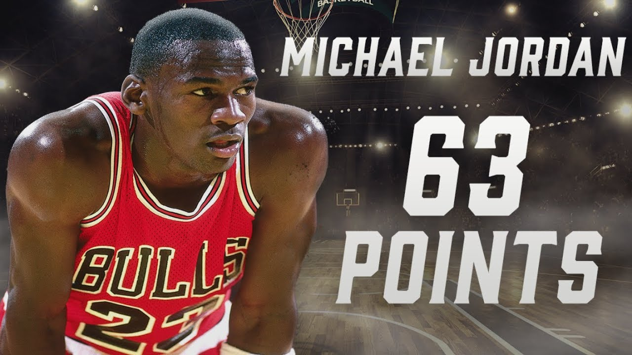 acheter populaire 1ef29 cb12e Michael Jordan's record-setting 63-point playoff performance | NBA  Highlights