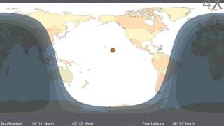 Day and Night World Map app