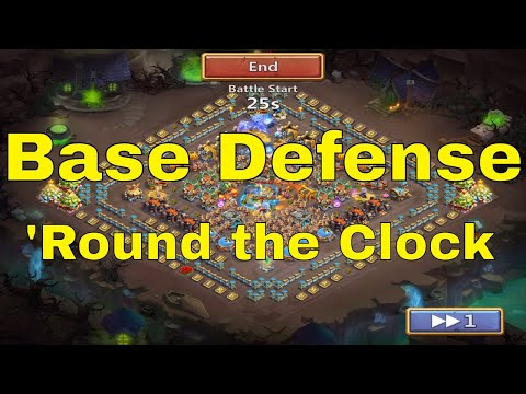 Castle Clash Base Defense 'Round The Clock