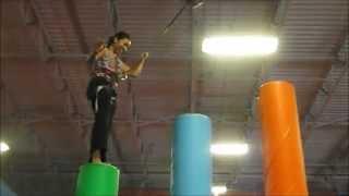 Jumpstreet Indoor Trampoline Park with Camille! | Brendiboo