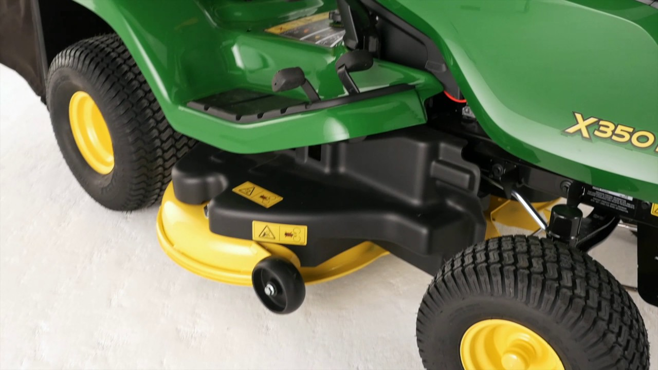 john deere x350r lawn tractor 42 deck youtube. Black Bedroom Furniture Sets. Home Design Ideas