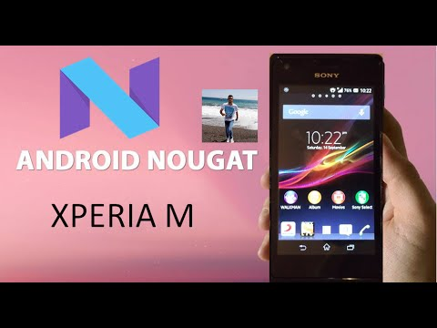 Android 7.0 Nougat for Sony Xperia M