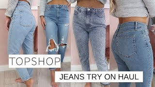 THE MOST FLATTERING TOPSHOP JEANS | TOPSHOP JEAN/DENIM TRY ON HAUL | Lucy Jessica Carter AD