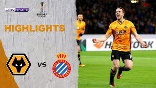 Wolves 4-0 Espanyol | Europa League 19/20 Match Highlights