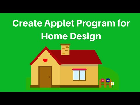 How To Create Simple Home Design Program In Java Applet Youtube