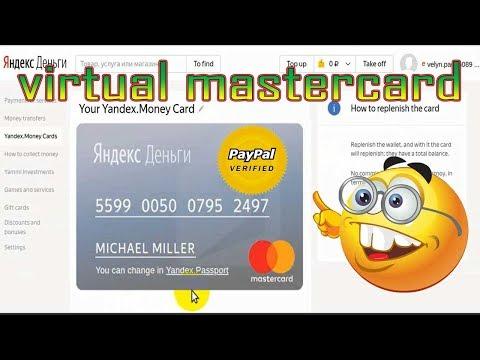 Free virtual mastercard for paypal verification ✅ 2019 - YouTube