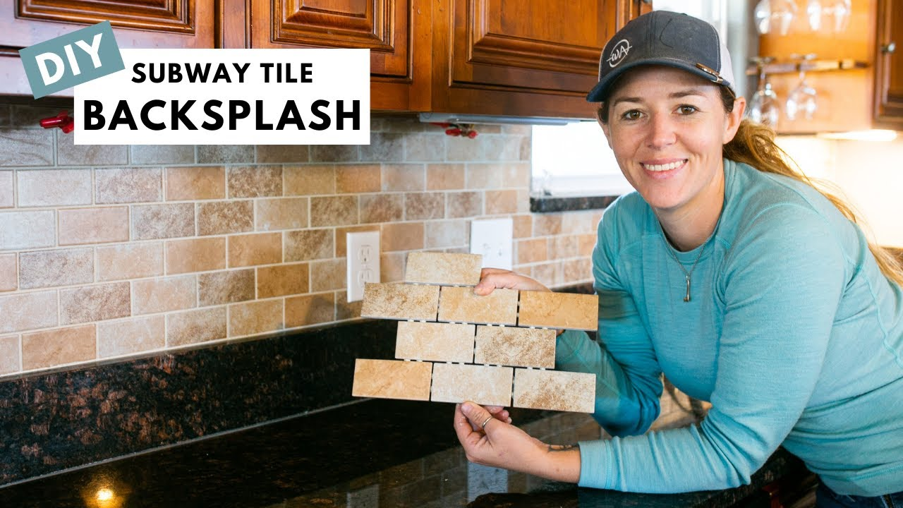 how to add subway tile backsplash over drywall transform your kitchen for 100
