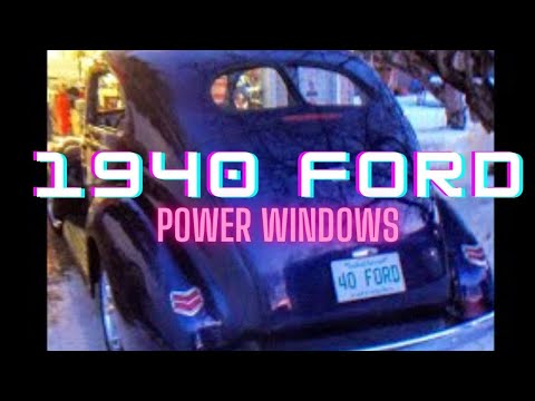 Power Windows On 40 Ford Rod Youtube