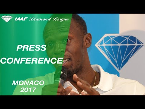 Monaco 2017 Press Conference with Usain Bolt - IAAF Diamond League