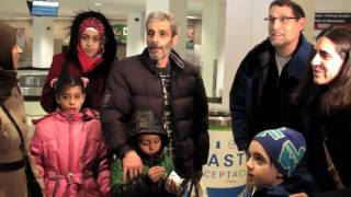 Refugee families arrive in Cleveland