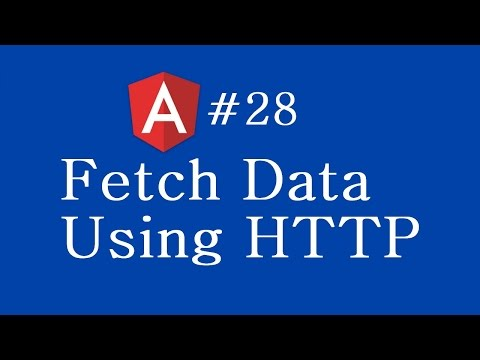 Angular 2 Tutorial - 28 - Fetch Data Using Http