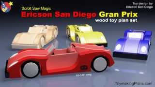 Wood Toy Plan - Build A Sleek Gran Prix Race Car