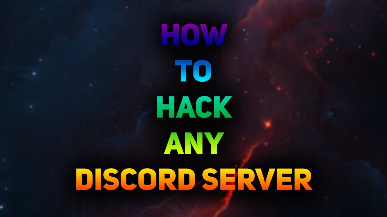 how to hack any discord server fast and easy legit undetected