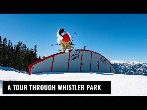 A Tour Through Whistler Terrain Park On Skis