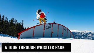 A Tour Through Whistler Terrain Park On Skis