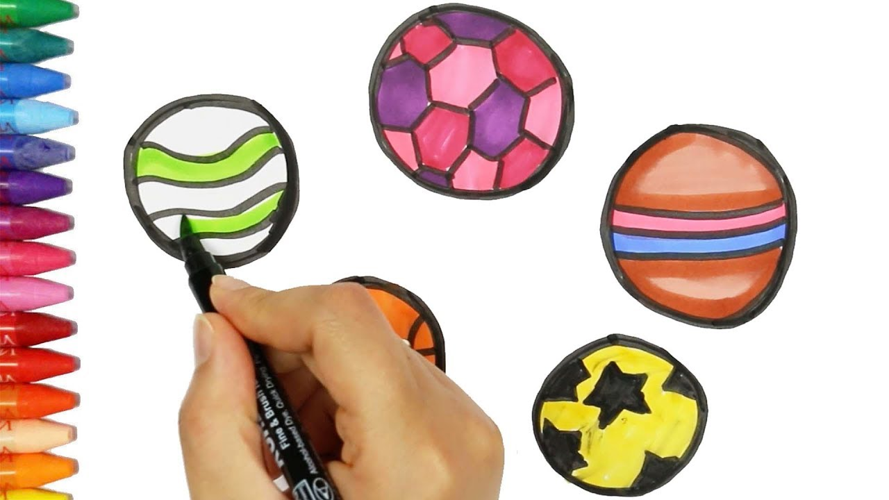 Wie zeichne Ball 🏀  Ball Malerei   Ball Malvorlagen   Ball lernen ...