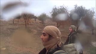 GoPro Сирия. Момент падения снаряда снятый на камеру GoPro.Интересное!!!