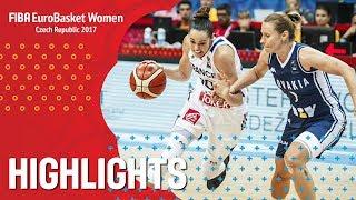 France v Slovak Republic - Хайлайты - Quarter-Finals - FIBA EuroBasket Women 2017