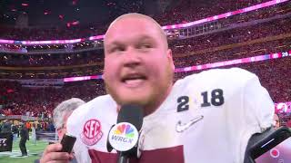 Bradley Bozeman on national title win, spark from Tua Tagovailoa