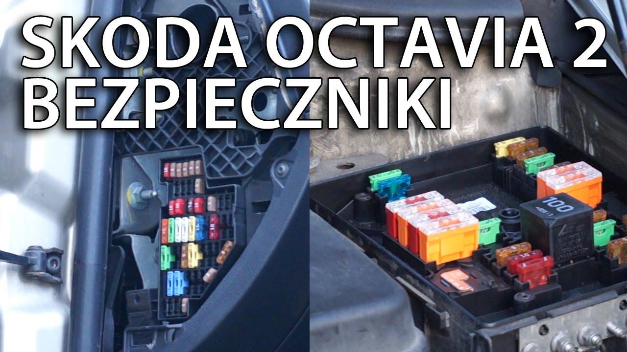 Gdzie S U0105 Bezpieczniki W Skoda Octavia Ii  Mk2 Lokalizacja