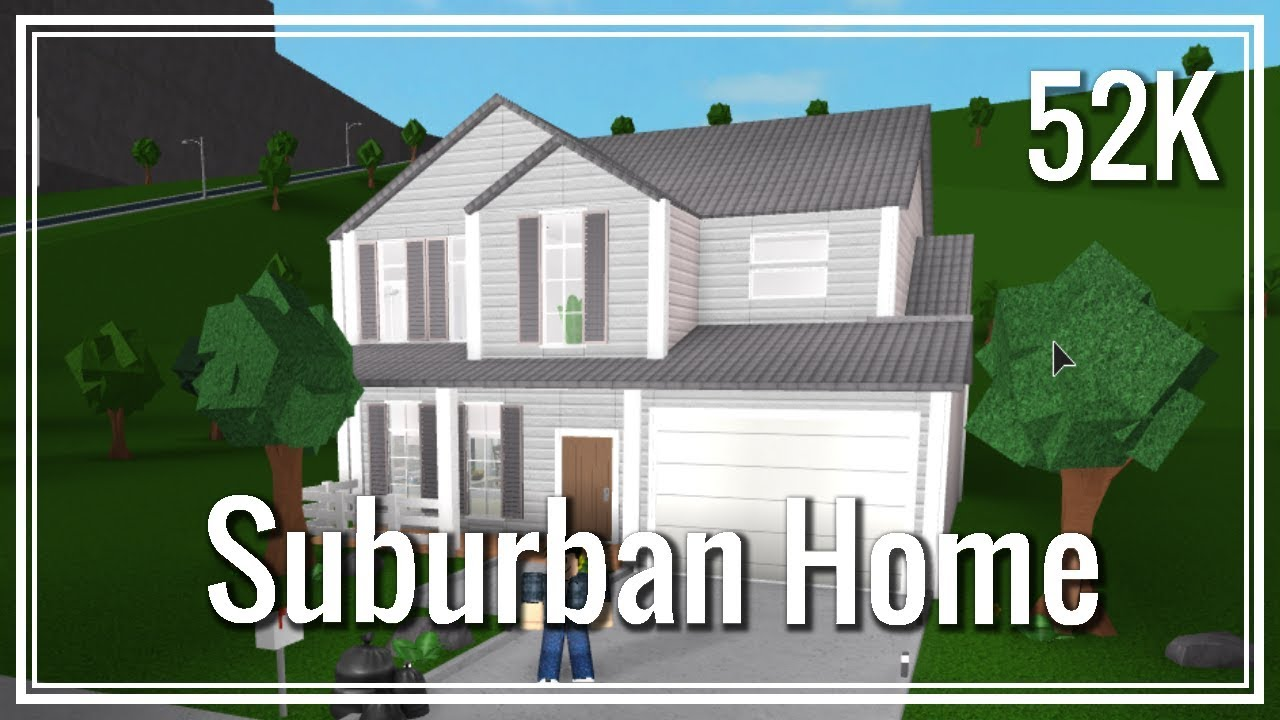 Roblox Bloxburg Two Story Suburban Home Youtube