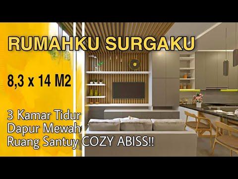 Desain Interior Kamar Tidur Utama 4x3  desain rumah modern 8 3 x 14 m dua lantai sepertinya mahal wkwk
