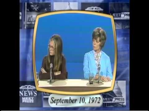 Gloria Steinem on Meet the Press 1972