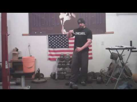 New Grip Strength Goal: 50-lb Globe Dumbbell Inverted Deadlift