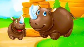 УЧИМ ЖИВОТНЫХ АФРИКИ С ДЕТЬМИ. Обучающие и развивающие мультфильмы. Животные для самых маленьких