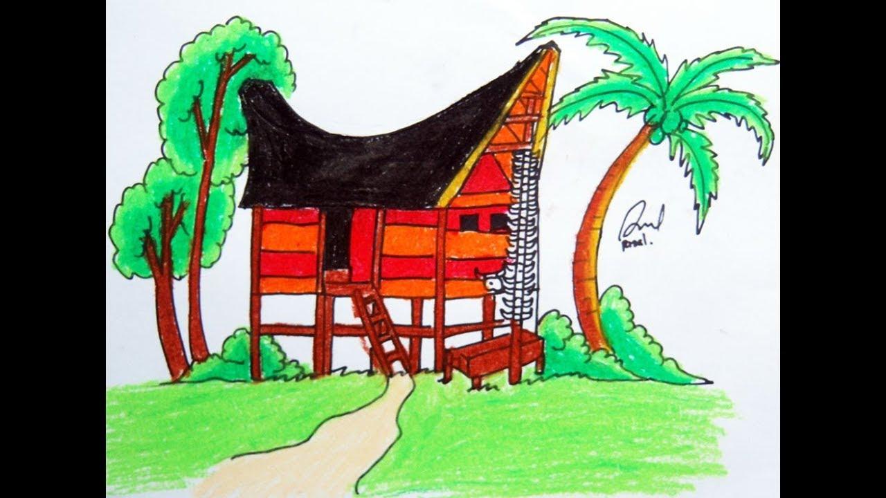 Cara Menggambar Rumah Adat Toraja