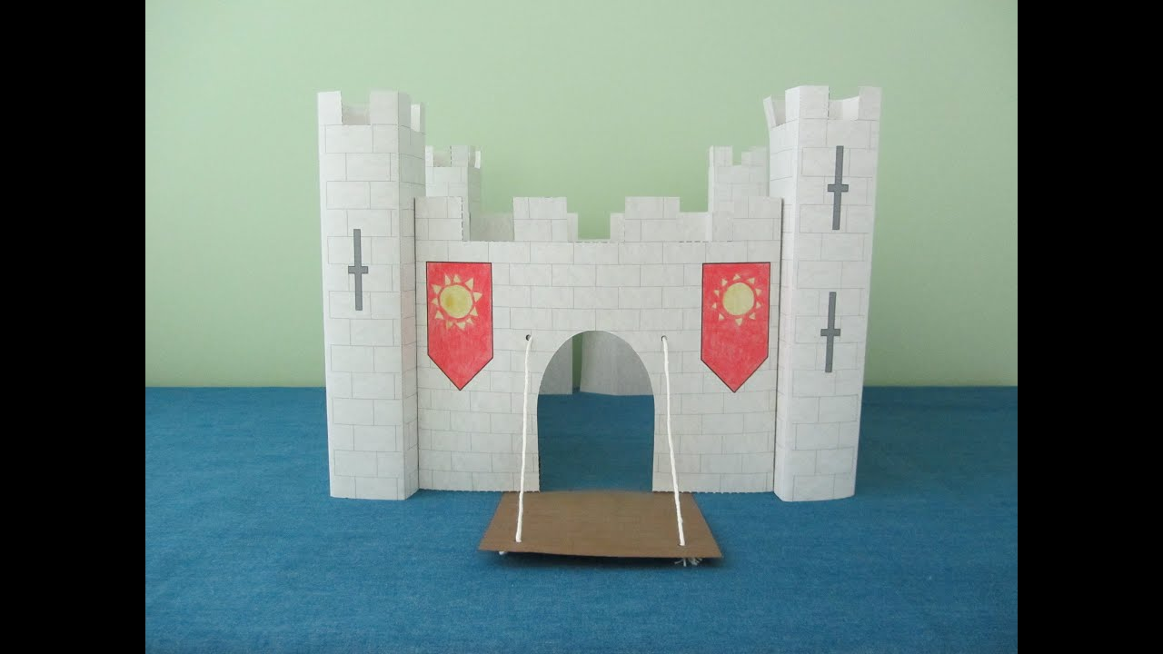 3d paper castle project for kids - youtube