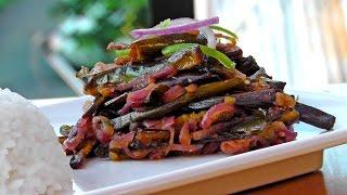Sri Lanka: Gebratene Auberginen - Vegan Vegetarisches Rezept