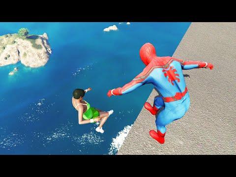 Spiderman in GTA 5 Epic Ragdolls | Funny moments vol.3 (Euphoria Physics)