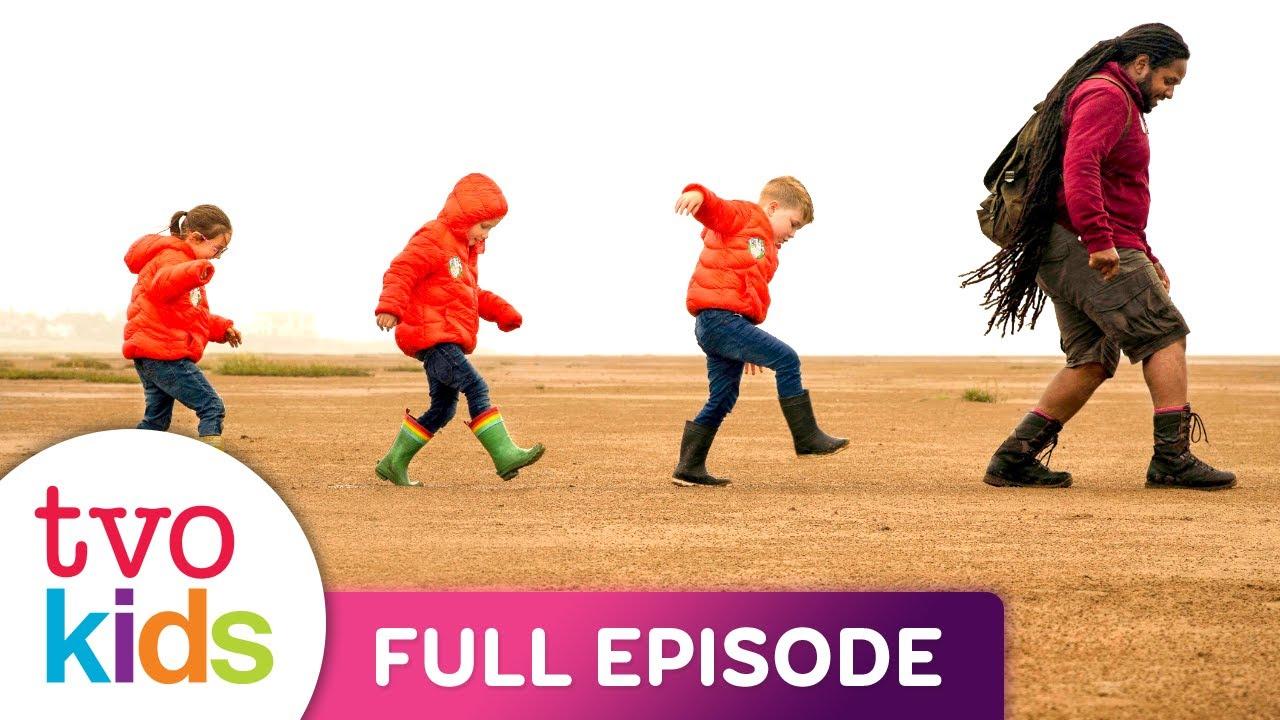 LET'S GO FOR A WALK - Wind Sounds & Sandcastles Walk - Full Episode