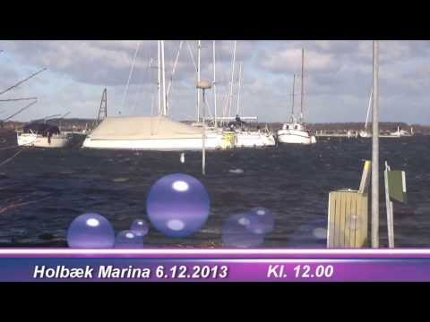 Holbæk Marina under storm