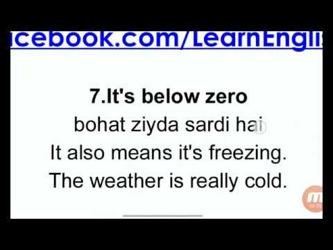 8 Phrases for Cold Weather