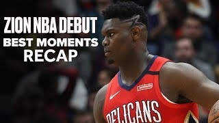 Zion Williamson Puts on 4th Quarter Show In NBA Debut | Highlights