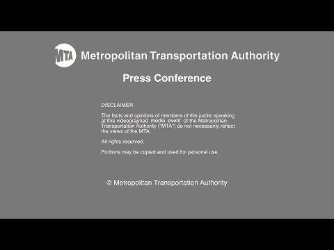 MTA Press Conference: 6 Point Subway Improvement Plan - 5/15/2017