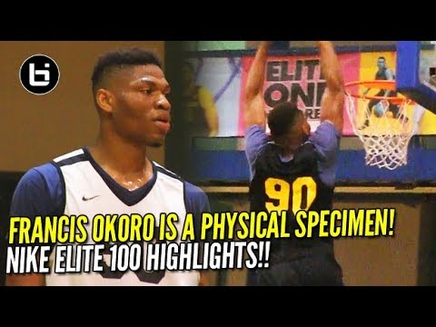 Francis Okoro Is A PHYSICAL Specimen!! Nike Elite 100 Skills Academy Highlights!